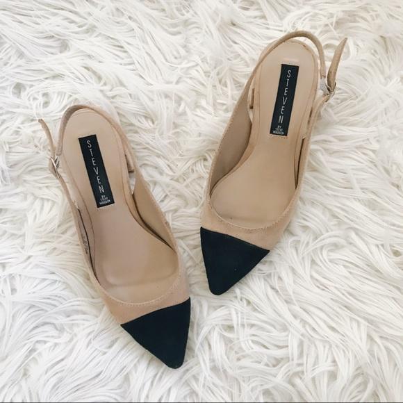 9f07787792c agent steve madden sling back cap toe heels